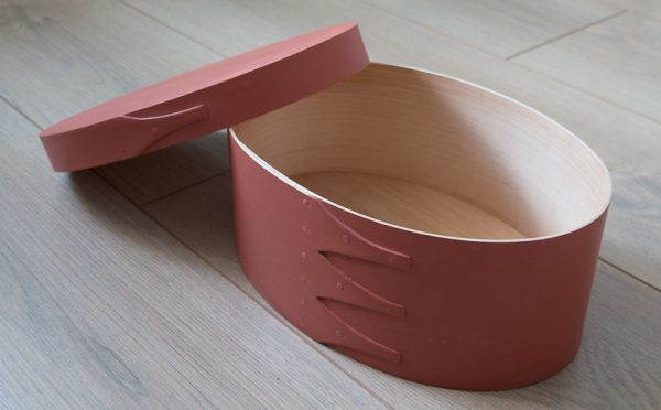 Shaker oval box painted