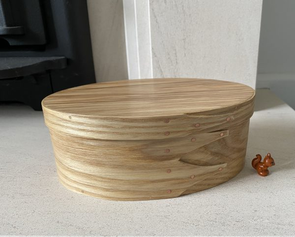Ash Shaker Oval wooden Box size 3