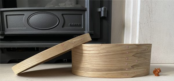 Ash Shaker Oval Wooden Box size 4