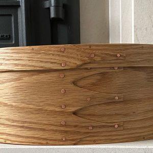 Oak Shaker Oval Wooden Box size 5