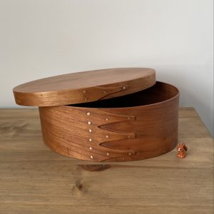 Cherry Shaker Oval Wooden Box size 4
