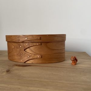 Cherry Shaker Oval Wooden Box size 3