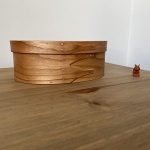 Cherry Shaker Oval Wooden Box size 2