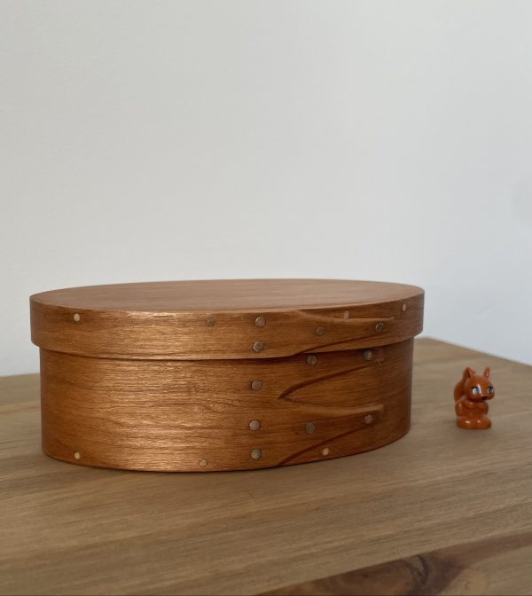 Cherry Shaker Oval Wooden Box size 1