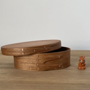 Cherry Shaker Oval Wooden Box size 0